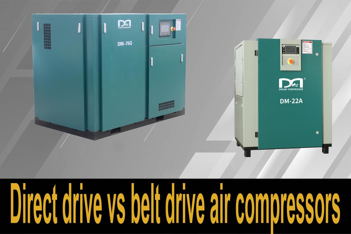 Compresseurs d'air à entraînement direct ou à entraînement par courroie