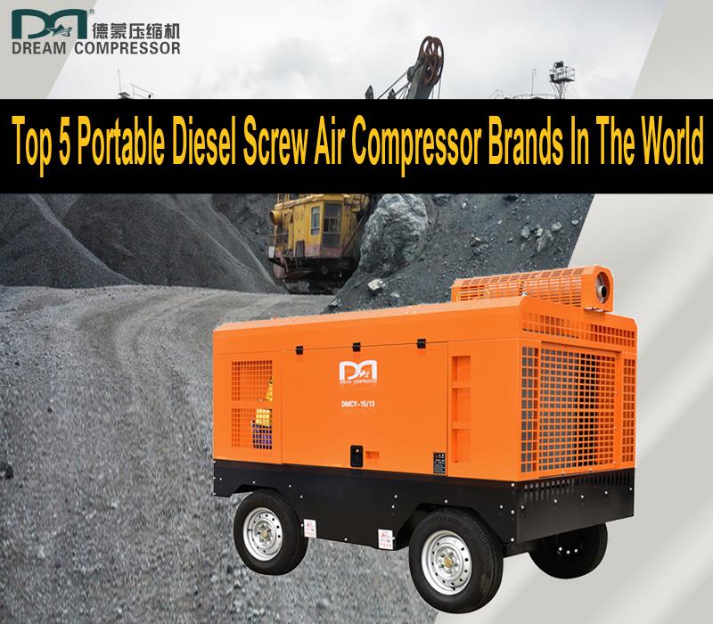 Top 5 des vis diesel portables Marques de compresseurs d'air dans le monde