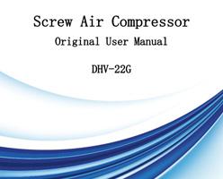 Compresseur d'air à vis Manuel d'utilisation d'origine DHV-22G
