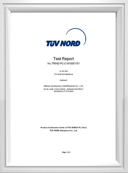 Rapport d'essai 8573-1 IND-PC-C1810001