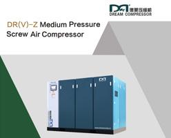 Compresseur d'air à vis à entraînement direct moyenne pression