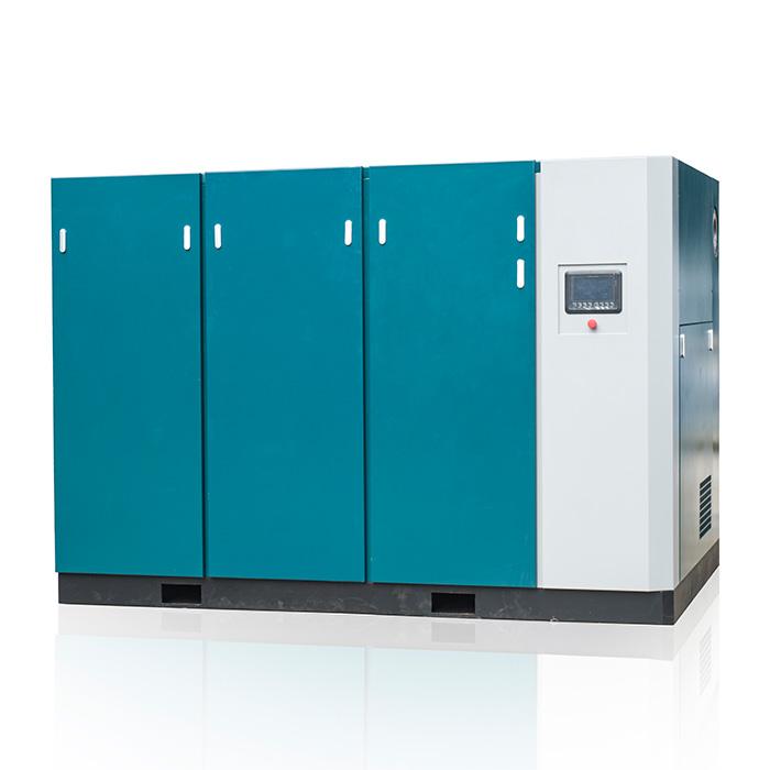 Compresseur d'air à vis à vitesse variable magnétique permanent à basse pression à deux étages (PM VSD)