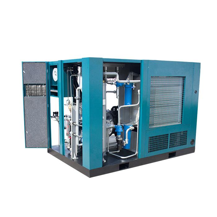 Compresseur d'air à vis à vitesse variable magnétique permanent moyenne pression