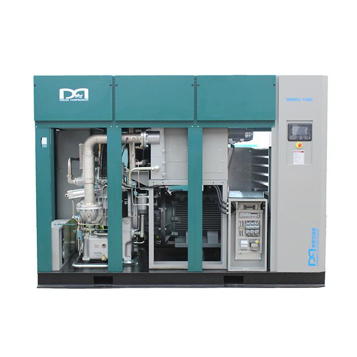 Compresseur d'air à vis à vitesse variable magnétique permanent sans huile sèche