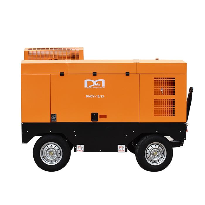 Compresseur d'air à vis portable diesel (8-35 bar)
