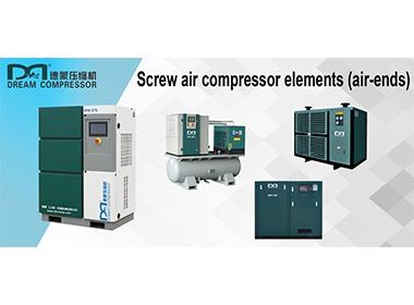 Éléments de compresseur d'air à vis (extrémités d'air)