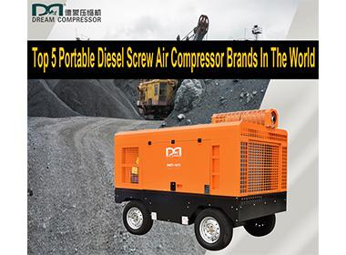 Top 5 des marques de compresseurs d'air à vis diesel portables dans le monde