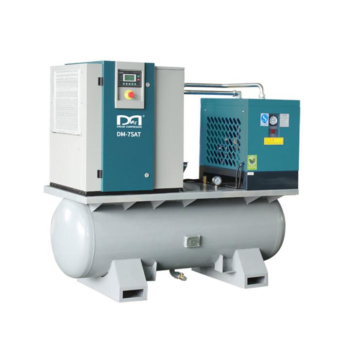 Compresseur d'air à vis intégré avec réservoir et dessiccateur d'air