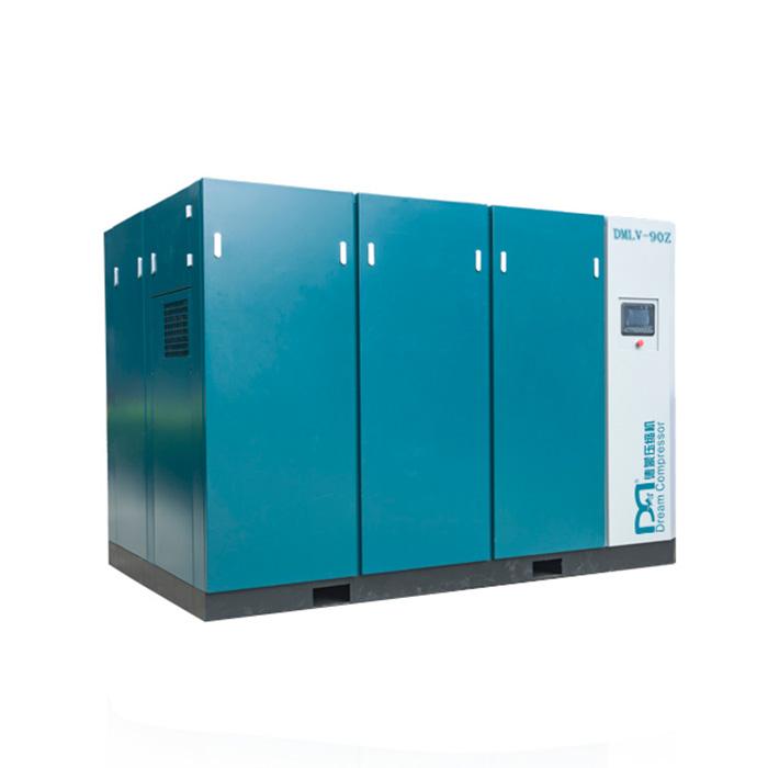 Compresseur d'air à vis à vitesse variable magnétique permanent basse pression à un étage (PM VSD)