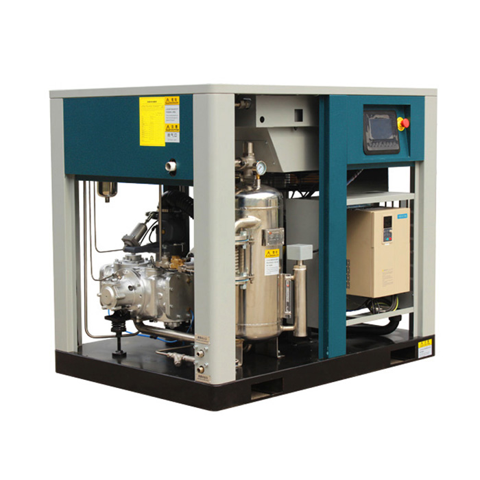 Compresseur d'air à vis à vitesse variable magnétique permanent lubrifié à l'eau sans huile